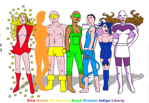 Meet the superhero team Spandex; the glamorous transvestite super-hero ...