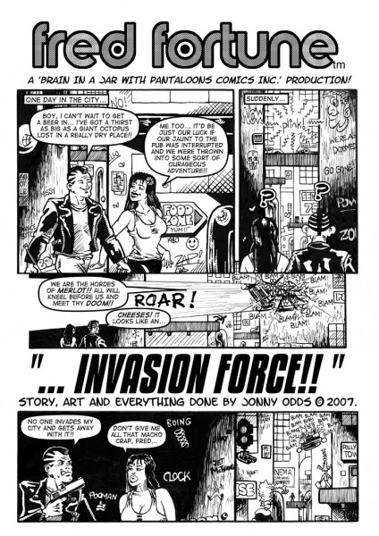 Fred Fortune: Invasion Force #1 Preview