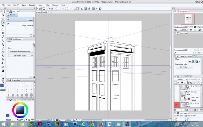 Manga Studio 5 EX  - Doctor Who Tardis